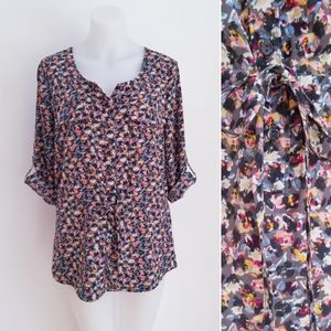GAP Abstract Floral Top, Multicolour, Small